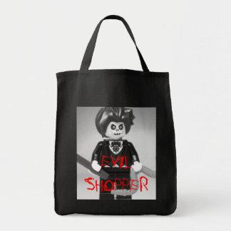 Evil Magician Custom Minifigure with Magic Wand Grocery Tote Bag