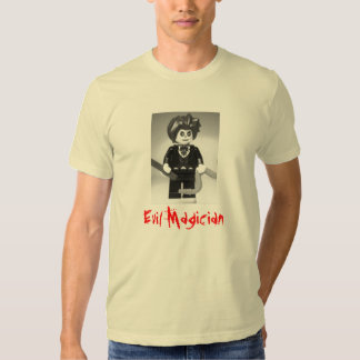 Evil Magician Custom Minifigure with Magic Wand Tshirt
