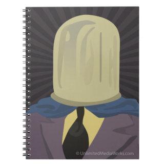 Evil Mastermind Crystal Spiral Notebooks