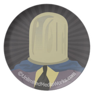 Evil Mastermind Crystal Party Plates