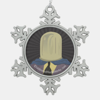Evil Mastermind Crystal Pewter Snowflake Decoration