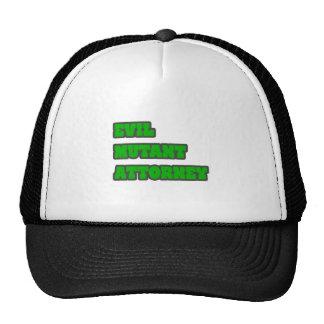 Evil Mutant Attorney Trucker Hats