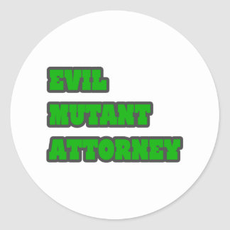 Evil Mutant Attorney Round Sticker
