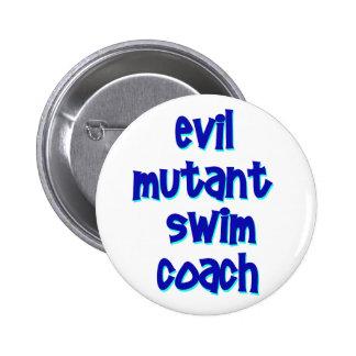 Evil Mutant Swim Coach 6 Cm Round Badge