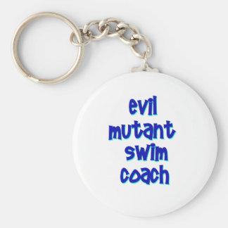 Evil Mutant Swim Coach Basic Round Button Key Ring