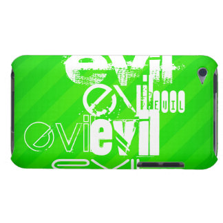 Evil; Neon Green Stripes Barely There iPod Covers