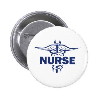 evil nurse 6 cm round badge