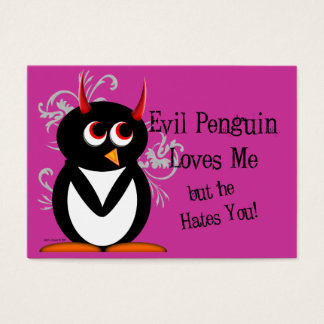 Evil Penguin Anti-Valentines day cards