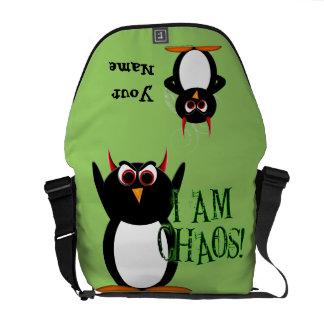 Evil Penguin Chaos Rickshaw Messenger Bag