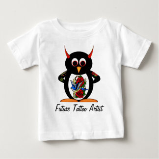 Evil Penguin Future Tattoo Artist Baby T-Shirt