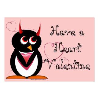 Evil Penguin School Valentines Business Card
