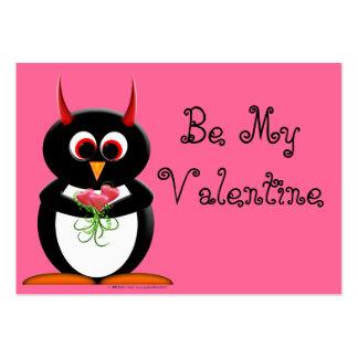 Evil Penguin School Valentines - I Like You Business Cards