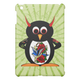 Evil Penguin Tattooed Penguin iPad Mini Cases