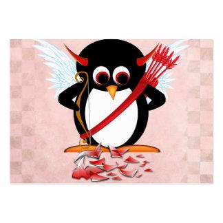 Evil Penguin Valentine cards Business Card Templates