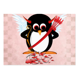 Evil Penguin Valentine cards Pack Of Chubby Business Cards