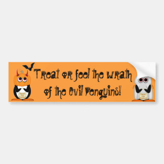 Evil Penguin Witch Bumper Sticker