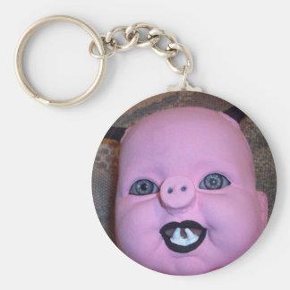 Evil Pig Basic Round Button Key Ring