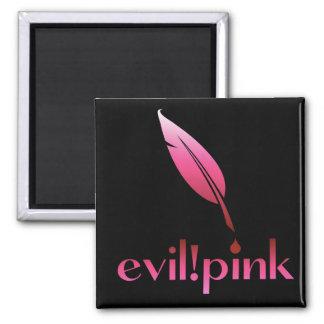 evil pink square magnet