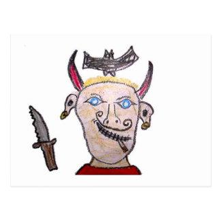 Evil Pirate Postcard
