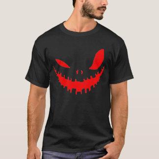 Evil Pumpkin Smiley Face T-Shirt