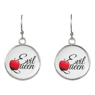 Evil Queen Red Apple Earrings