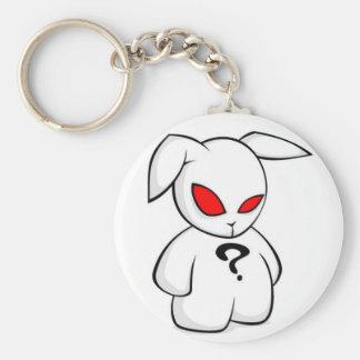 Evil Rabbit Basic Round Button Key Ring