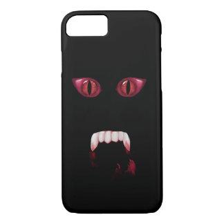 Evil Red Demon Eyes & Bloody Vampire Fangs iPhone 8/7 Case