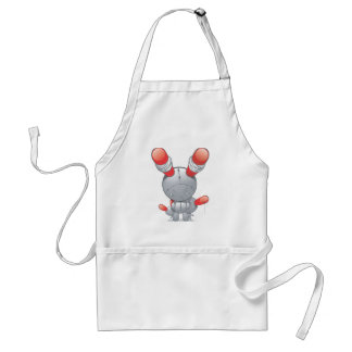 Evil red-eared Rabbit doll Standard Apron