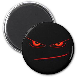 evil red eyes magnet