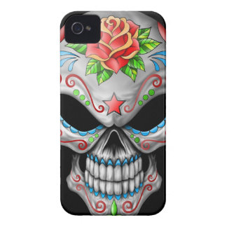 Evil Rose Sugar Skull iPhone 4 Covers