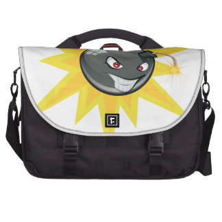 Evil Round Bomb Laptop Messenger Bag