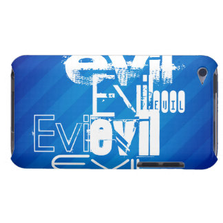 Evil; Royal Blue Stripes iPod Touch Covers