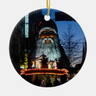 Evil Santa - Hamburg Germany Round Ceramic Decoration
