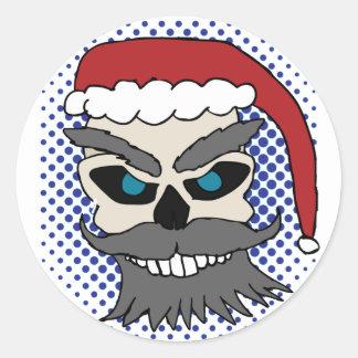 Evil Santa Skull sticker