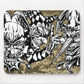 Evil Scary Clowns Mousepads