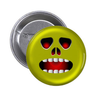 Evil Scary Face Pin