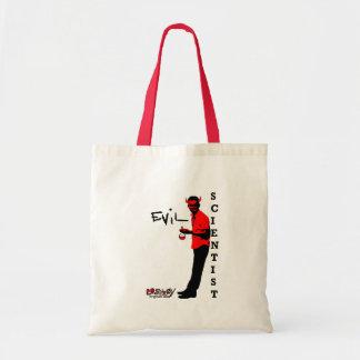 evil scientist budget tote bag