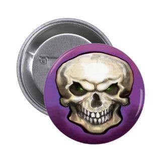 Evil Skull 6 Cm Round Badge
