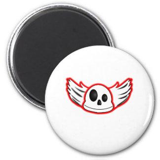 Evil Skull 6 Cm Round Magnet