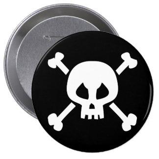 Evil Skull and Crossbones button