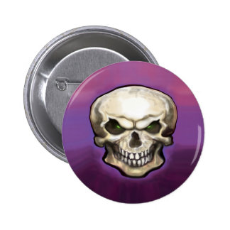 Evil Skull Pinback Button