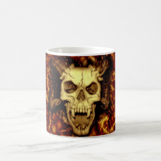 Evil Skull Basic White Mug