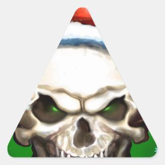 Evil Skull Christmas Triangle Sticker