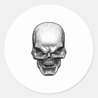 Evil Skull Face Stickers