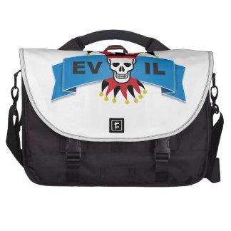 evil skull logo commuter bag