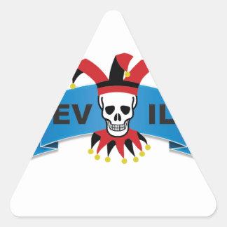 evil skull logo triangle sticker