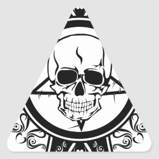Evil Skull on Cross / Dark / Emo Sticker