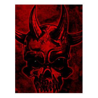 Evil Skull Postcard