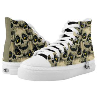 Evil Skull Printed Shoes
