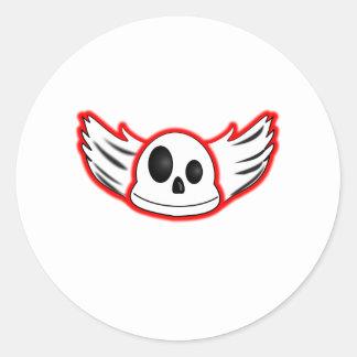 Evil Skull Sickers Round Sticker